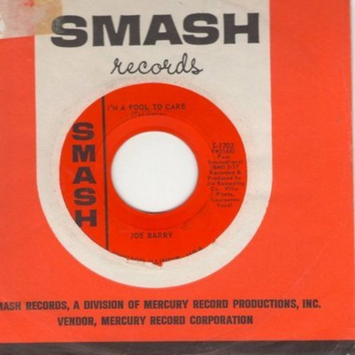 Barry, Joe - I'm A Fool To Care/I Got A Feeling (MINT condition with Smash company sleeve) - M10/ - 45 rpm Records