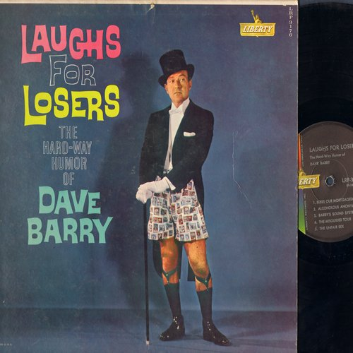 Barry, Dave - Laughs For Losers - The Hard-Way Humor Of Dave Barry (vinyl MONO LP record) - NM9/EX8 - LP Records
