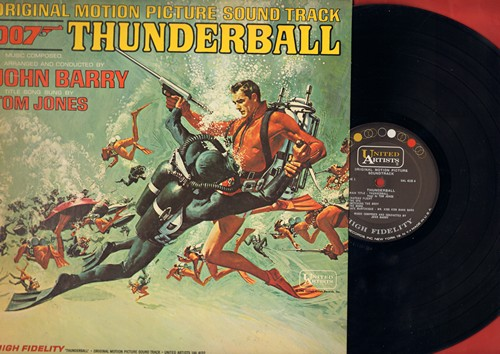 Barry, John, Tom Jones - Thunderball - Original Motion Picture Sound Track featuring Score by John Barry with Title Song by Tom Jones (vinyl MONO LP record, NICE condition!) - NM9/EX8 - LP Records