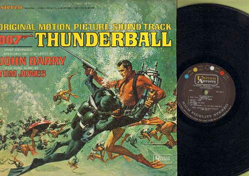 Barry, John, Tom Jones - Thunderball - Original Motion Picture Sound Track featuring Score by John Barry with Title Song by Tom Jones (vinyl STEREO LP record) - NM9/VG7 - LP Records