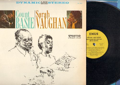 Basie, Count & Sarah Vaughan - Sarah Vaughan With Count Basie & His Orchestra: Perdido, Alone, Corner Pocket, You Go To My Head, The Gentleman Is A Dope (vinyl STEREO LP record, 1980s re-issue of vintage Jazz recordings) - NM9/NM9 - LP Records