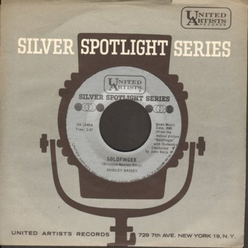 Bassey, Shirley - Goldfinger/Strange How Love Can Be (early re-issue with United Artists company sleeve) - NM9/ - 45 rpm Records