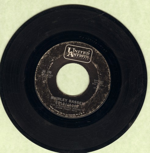 Bassey, Shirley - Goldfinger/Strange How Love Can Be  - VG7/ - 45 rpm Records