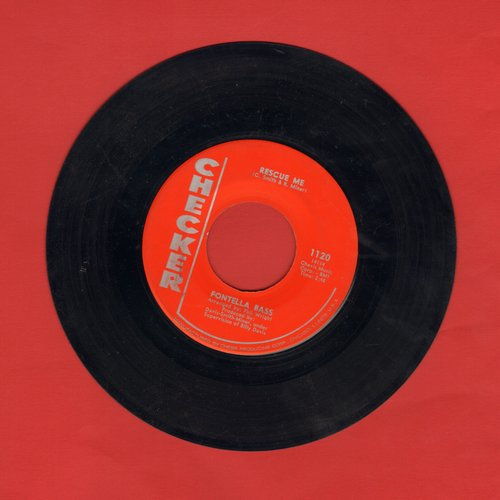 Bass, Fontella - Rescue Me/Soul Of The Man (red label, silver lettering first pressing) - EX8/ - 45 rpm Records