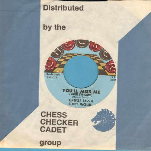 Bass, Fontella & Bobby McClure - You'll Miss Me/Don't Jump (with Checker company sleeve) - M10/ - 45 rpm Records