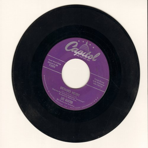 Baxter, Les & Chorus & Orchestra - Unchained Melody/Medic (purple label first issue) - EX8/ - 45 rpm Records