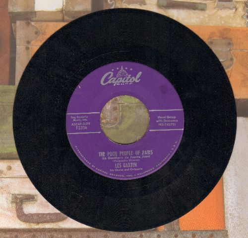 Baxter, Les & His Orchestra - The Poor People Of Paris/Theme From -Helen Of Troy- (purple label first issue) - VG7/ - 45 rpm Records