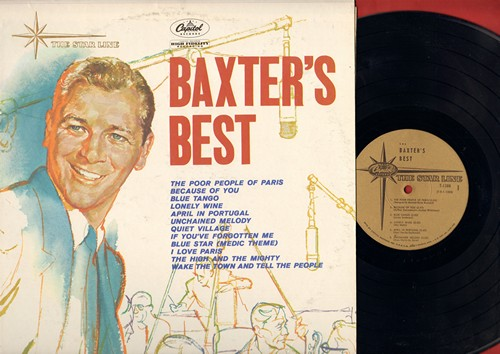 Baxter, Les & His Orchestra - Baxter's Best: Poor People Of Paris, Unchained Melody, The High And The Mighty, I Love Paris, Blue Tango (vinyl MONO LP record, re-issue of vintage recordings) - M10/EX8 - LP Records