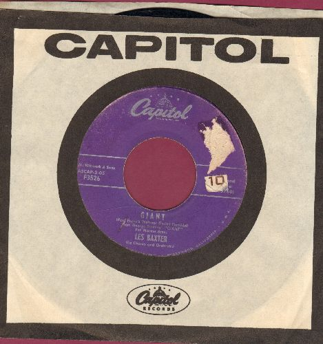 Baxter, Les & Chorus & Orchestra - Giant (RARE vocal theme from film 'Giant-)/There's Never Been Anyone Else But You (with vintage Capitol company sleeve) (soc) - VG7/ - 45 rpm Records