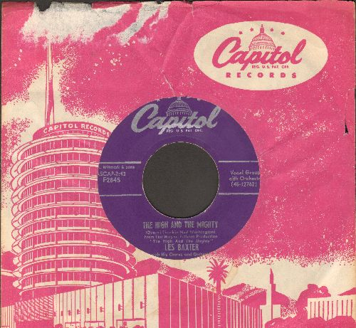 Baxter, Les & His Orchestra & Chorus - The High And The Mighty/More Love Than Your Love (with vintage Capitol company sleeve) - NM9/ - 45 rpm Records