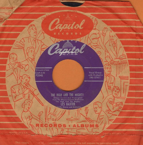 Baxter, Les & His Orchestra & Chorus - The High And The Mighty/More Love Than Your Love (with vintage Capitol company sleeve) - EX8/ - 45 rpm Records