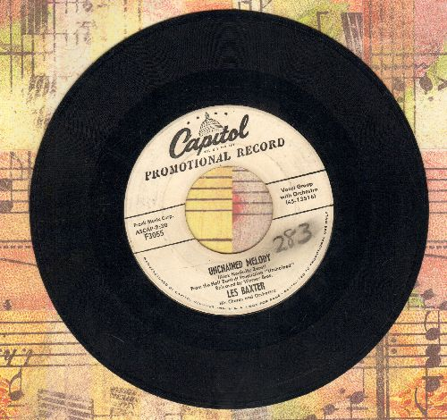 Baxter, Les & Chorus & Orchestra - Unchained Melody/Medic (DJ advance pressing) - VG6/ - 45 rpm Records