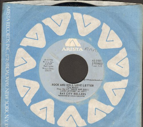Bay City Rollers - Rock And Roll Love Letter/Shanghai'd In Love (with Arista company sleeve) - NM9/ - 45 rpm Records
