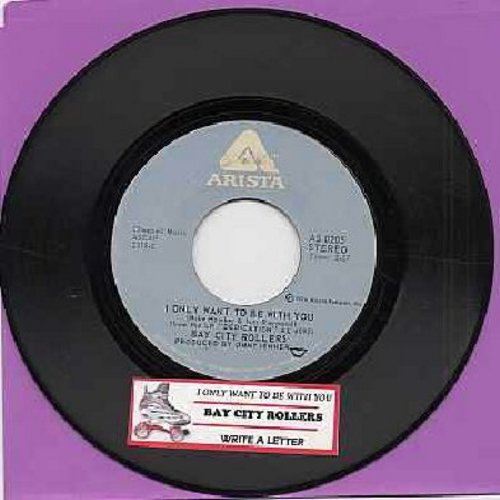 Bay City Rollers - I Only Wanna Be With You/Write A Letter (with juke box label) - NM9/ - 45 rpm Records