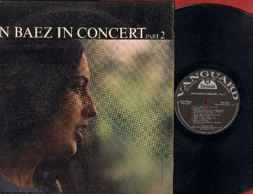 Baez, Joan - Joan Baez In Concert Part 2: Once I Had A Sweetheart, Hush Little Baby, Railroad Bill, Te Ador, Jackaroe (vinyl STEREO LP record) - EX8/VG7 - LP Records