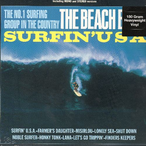 Beach Boys - Surfin' USA: Misirlou, Shut Down, Finders Keepers, Honky Tonk, Lana (vinyl LP record featuring 12 titles in both MONO and STEREO versions, 180 gram Virgin Vinyl EU Pressing, SEALED, never opened! - SEALED/SEALED - LP Records