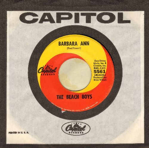 Beach Boys - Barbara Ann/Girl Don't Tell Me (with vintage Capitol company sleeve) - EX8/ - 45 rpm Records