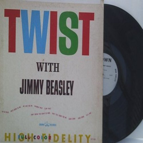 Beasley, Jimmy - Twist With Jimmy Beasley: I'm So Blue, Rhumba Twist, Good Lovin', Slow Twist (vinyl MONO LP record) - EX8/VG7 - LP Records