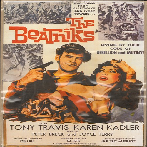 The Beatniks - Movie Poster - The Beatniks - Full Color 16 x 10.5 inch reproduced Movie Poster of the 1950s Cult Film - GREAT for framing!  - NM9/ - Poster