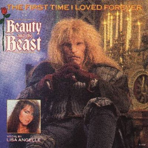 Angelle, Lisa - The First Time I Loved Forever (Love Theme From -Beauty And The Beast-) (2 different versions, with picture sleeve) - M10/EX8 - 45 rpm Records