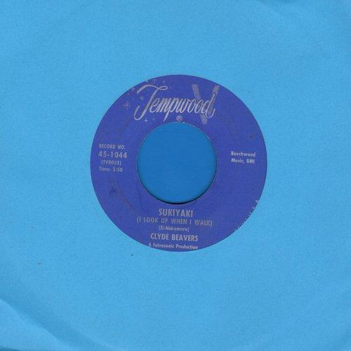 Beavers, Clyde - Sukiyaki (I Look Up When I Walk)/Handprints On The Window - EX8/ - 45 rpm Records
