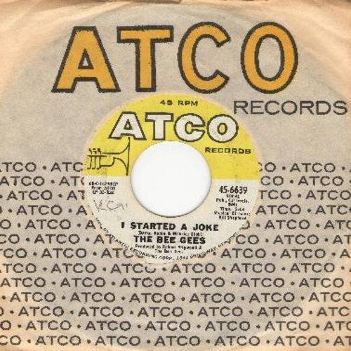 Bee Gees - I Started A Joke/Kilburn Towers (with Atco company sleeve) (bb) - EX8/ - 45 rpm Records