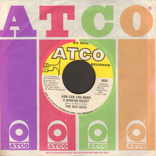Bee Gees - How Can You Mend A Broken Heart/Country Woman (with Atco company sleeve) - VG7/ - 45 rpm Records