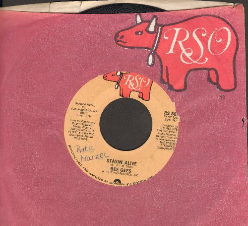 Bee Gees - Stayin' Alive/If I Can't Have You (with RSO company sleeve)(sol) - EX8/ - 45 rpm Records