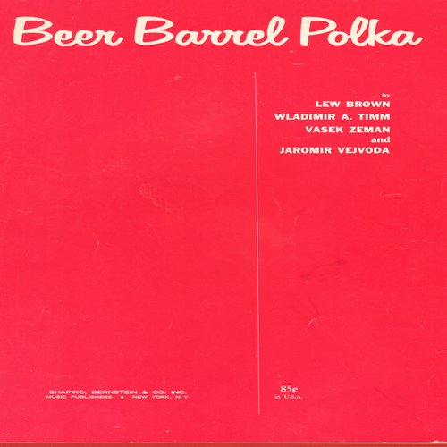 Andrews Sisters - Beer Barrel Polka - Sheet Music for the Polka Classic (This is SHEET MUSIC, not any other kind of media!) - EX8/ - Sheet Music