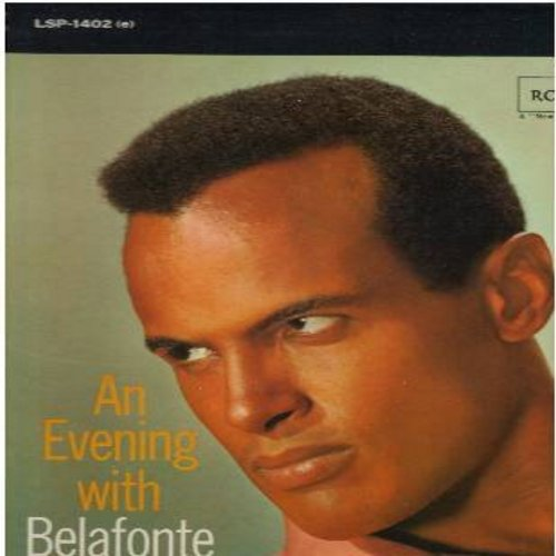 Belafonte, Harry - An Evening With Belafonte: Shenandoah, Mary's Boy Child, Danny Boy, Hava Nageela, Merci Mon Dieu (vinyl STEREO LP record, orange label 1970s pressing) - NM9/NM9 - LP Records
