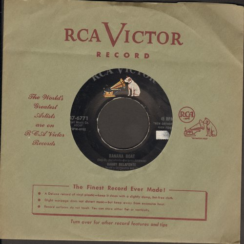 Belafonte, Harry - Banana Boat/Star-O (with vintage RCA company sleeve) - EX8/ - 45 rpm Records