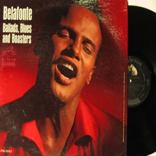Belafonte, Harry - Ballads, Blues And Boasters: Tone The Bell Easy, My Love Is A Dewdrop, Back Of The Bus, Black Betty, Pastures Of Plenty (vinyl MONO LP record) - NM9/NM9 - LP Records