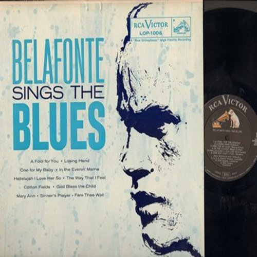 Belafonte, Harry - Belafone Sings The Blues: One For My Baby, God Bless The Child, Mary Ann, Cotton Fields (vinyl MONO LP record) - NM9/EX8 - LP Records