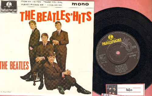 Beatles - From Me To You/Thank You Girl/Please Please Me/Love Me Do (vinyl EP record with picture cover, British Pressing) - NM9/NM9 - 45 rpm Records