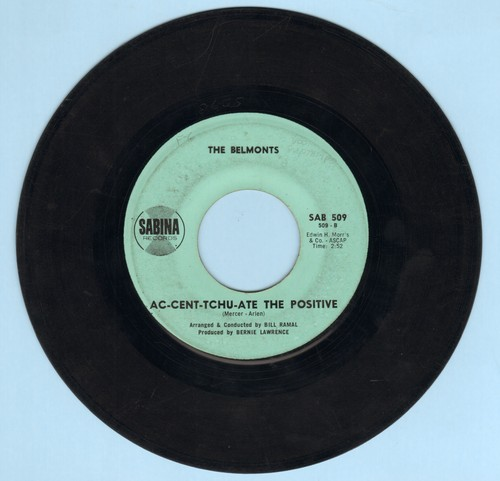 Belmonts - Ann-Marie/Ac-Cent-Tchu-Ate The Positive - EX8/ - 45 rpm Records
