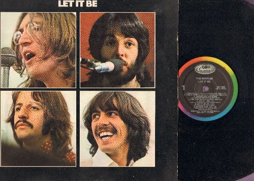 Beatles - Let It Be: Maggie Mae, Get Back, Across The Universe, The Long And Winding Road (vinyl LP record, 1980s pressing) - VG7/EX8 - LP Records