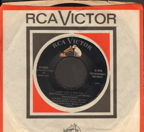 Belafonte, Harry - Mama Look At Bubu/Don't Ever Love Me (with vintage RCA company sleeve) - NM9/ - 45 rpm Records