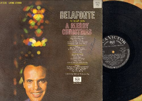Belafonte, Harry - To Wish You A Merry Christmas: The Twelve Days Of Christmas, Deck The Hall, Silent Night, The First Noel (vinyl STEREO LP record, German Pressing) - NM9/VG7 - LP Records