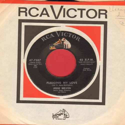 Belvin, Jesse - Pledging My Love/Funny (with vintage RCA company sleeve) - EX8/ - 45 rpm Records