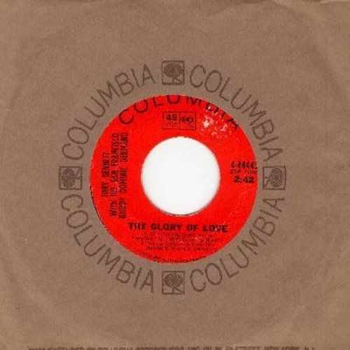 Bennett, Tony & Dominic Germano - The Glory Of Love (from film -Guess Who's Coming To Dinner-)/A Fool Of Fools (with Columbia company sleeve, sol) - EX8/ - 45 rpm Records