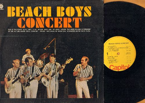 Beach Boys - Beach Boys Concert: Fun Fun Fun, Little Deuce Coupe, Monster Mash, In My Room, Papa Oom-Mow-Mow, I Get Around, Johnny B. Goode (yellow label, red logo) - EX8/EX8 - LP Records