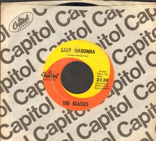 Beatles - Lady Madonna/The Inner Light (with Capitol company sleeve) - VG7/ - 45 rpm Records