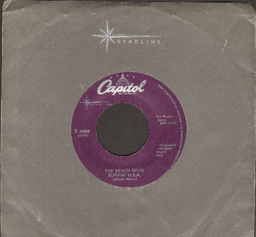 Beach Boys - Surfin' U.S.A./Shut Down (purple label re-issue) - EX8/ - 45 rpm Records