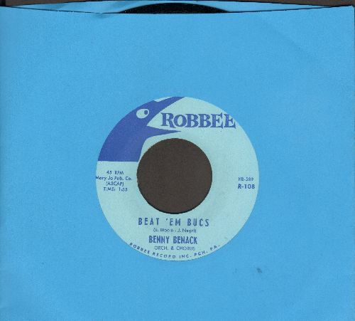 Benack, Benny & orchestra & Chorus - Beat 'Em Bucs/The Charge Of The Buccaneers (Up-Tempo Tampa Bay Buccaneers Fight-Song two-sider in MINT condition!) - M10/ - 45 rpm Records