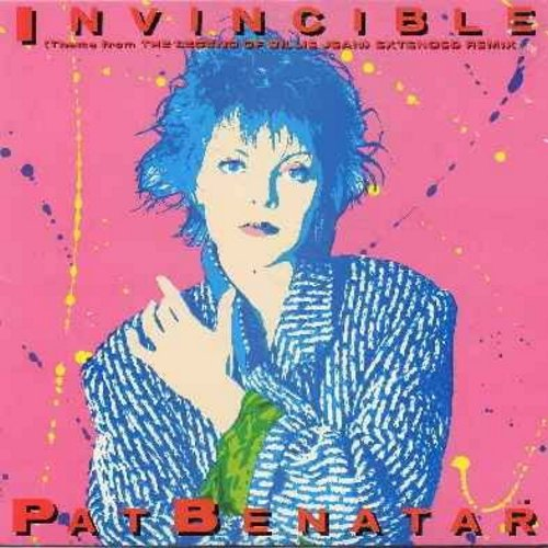 Benatar, Pat - Invincible (Theme From The Legend of Billie Jean) - 12 inch 33rpm vinyl maxi single featuring the extended Dance version + an extended Instrumental version of the hit - the original 1985 first US issue with picture cover) - NM9/EX8 - Maxi S