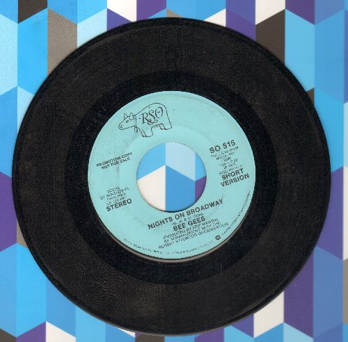 Bee Gees - Nights On Broadway (double-A-sided DJ advance pressing) (wol) - EX8/ - 45 rpm Records