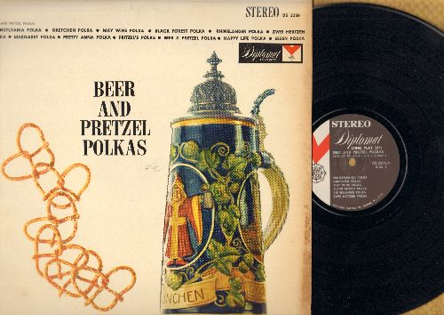 Polaski, Stanley & His Orchestra - Beer And Pretzel Polskas: Pennsylvania Polka, Happy Life Polka, Essen Polka, Black Forest Polka (vinyl STEREO LP record) - NM9/EX8 - LP Records