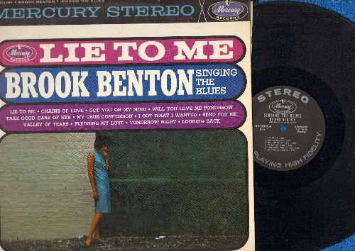 Benton, Brook - Lie To Me: Will You Love Me Tomorrow, Pledging My Love, Tomorrow Night, Take Good Care Of Her (vinyl STEREO LP record) - VG7/EX8 - LP Records