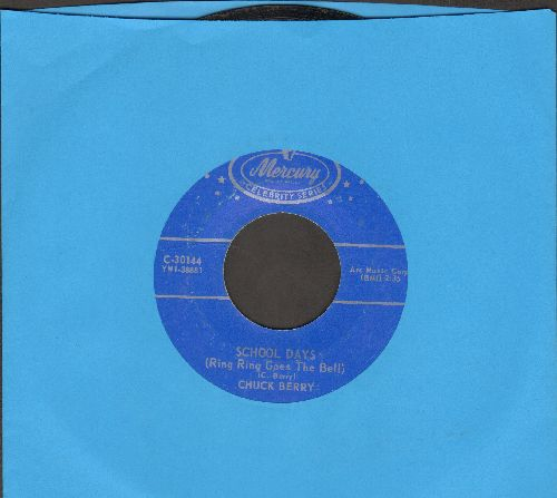 Berry, Chuck - School Days (Ring Ring Goes The Bell)/Memphis (double-hit re-issue) - EX8/ - 45 rpm Records
