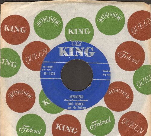 Bennett, Boyd & His Rockets - Seventeen/Little Ole You-All (blue label with vintage King company sleeve)) - EX8/ - 45 rpm Records